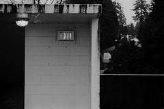 Exit - Film Leica (Photo Alan) Tags: vancouver canada blackwhite blackandwhite monochrome film filmcamera filmscan filmleica leicamp kodak5222