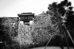 Nakagusu Castle (Peter Schneiter) Tags: traveljapan castle nakagusu okinawa bw blackandwhite fortress history historic