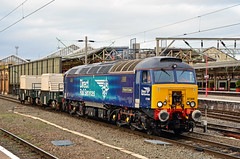 57309 Crewe (British Rail 1980s and 1990s) Tags: train rail railway loco locomotive lmr londonmidlandregion mainline wcml westcoastmainline cheshire livery crewe liveried traction diesel station drs directrailservices nuclearflasks 57 class57 prideofcrewe 57309 freight railfreight