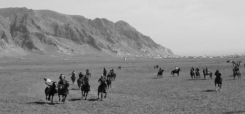Kok-Boru ( or Buzkashi) match, Aravan, near Kyrgyzstan-Uzbekistan border.