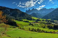 Santa Maddalena (giannipiras555) Tags: dolomiti trentino odle nuvole panorama landscape autunno chiesa colline verde natura