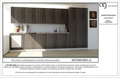 Kitchen cabinets Layout idea 2