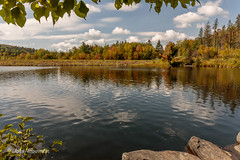 Fall Reflections (John H Bowman) Tags: newengland vermont washingtoncounty parks stateparks vtstateparks lakesandponds reflections fallcolors blueskywhiteclouds september2017 september 2017 canon24704l