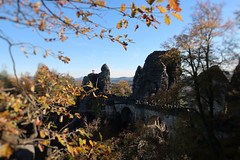 Bastei - Saxon Switzerland (Sandra Köppen | P H O T O G R A P H Y) Tags: autumn architecture bright beautiful beauty bokeh brown closeup cute colourful dreamy detail delicate day dresden earthy fairytale light leaves leaf nature natural outdoor october orange outside still season simple sparkle soft sun serene sky 2018