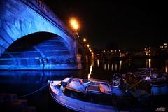 Kingston Bridge Surrey (psychosteve-2) Tags: kingston bridge thames night blue long time exposure boats