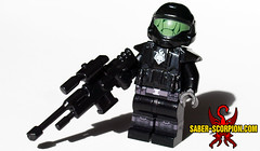 Feet First into Hell (Saber-Scorpion) Tags: lego minifig minifigures moc brickforge halo odst
