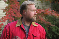 poloprofile2 (FAIRFIELDFAMILY) Tags: jason taylor beach myrtle polo barn jacket coat red granite portrait house arts crafts craftsman bungalow maple yard profile winnsboro bank greek revival architecture column fence dune sand vintage child young old outside nature beard father son man garden city