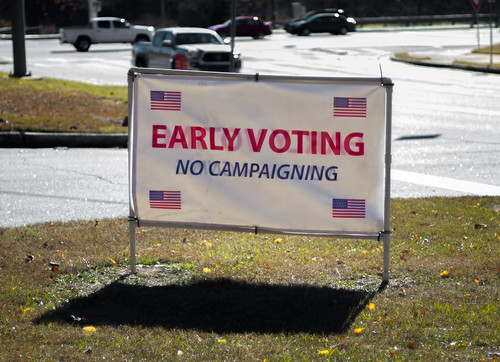 Early Voting. No Campaigning. by Thomas Cizauskas, on Flickr