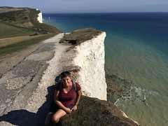 Laura on the clifftops (dark_dave25) Tags: south downs uk england camping september 2018 hot