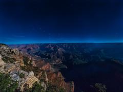 Big Dipper Rises over the Grand Canyon lit by the Hunter's Moon - Grand Canyon, South Rim, AZ (Jun C Photography) Tags: olympus microfourthirds omd mkii grandcanyon nationalpark sandiego u43 california em5 arizona coloradoriver horseshoebend markii mk2 mft route66