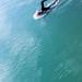 Bude tidal swimming pool swimmer, UK