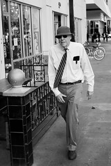 Hat and tie (raptoralex) Tags: phoenix arizona downtown peoplewatching peoplephotography people streetphotography street blackandwhite canon5d canon5dmkii 1635