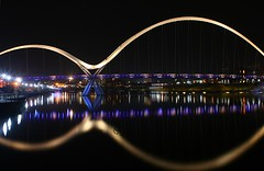 Infinity Bridge Thornaby-on-Tees (jamesdavidboro2) Tags: infinity bridge thronaby stocktonintees rivertees teeside bridges neon