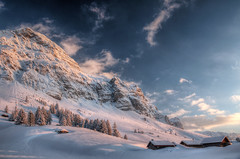 Schwägalp sunset (Tjaldur66) Tags: mountains swissmountains swissalps switzerland easternswitzerland winter winterwonderland snow peak cottages sunset outdoor evening eveninglight hdr tonemapping