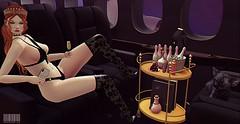#214 - Sex on Fire. (rhavena.rasmuson) Tags: sexy foxcity follow4follow follow4followback fav4fav fashion secondlife slavatar slfashion secondolife secondlifeavatar sl slavi favfav bb champangne crown black blackbantam