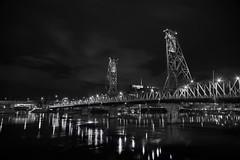 SW Hawthorne Bridge, Portland, OR. Black & White at Night (coljacksg) Tags: