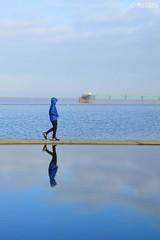 Blue Refelction (Melanie Gregory) Tags: nikon uk england seascape seaside clevedon somerset reflection blue