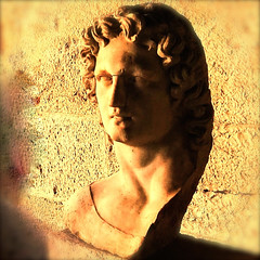 Fiery Alexander_IMG_7203n (AchillWandering) Tags: history bloody fiery great alexander alexanderiii macedon macedonia greece ancientagora museum statue sculpture hero surreal portrait sobriety halfaface shadow ancient athens art archaelogical monochrome golden red face bust hellenistic alexanderthegreat antiquities square squareformat marble head arthistory classical civilization idol carving macedoniagreece makedonia macedoniatimeless macedonian macédoine mazedonien μακεδονια македонијамакедонскимакедонци sunset