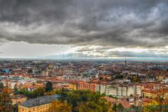 Bergamo, Italy (M Malinov) Tags: italy italia city cityscape cityview europe eu apennine бергамо bergamo град италия европа sky clouds rain colors colorful landscape panorama