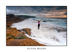 Girl standing on rocks  as ocean waves wash past her feet (sugarbellaleah) Tags: ocean waves female sunrise sea coastline coastal scene people joy excitement praise glory success achievement wonderful amazing earth nature clouds rockshelf headland capebanks australia woman standing armsoutstretched hope motion magnificent morning sky texture background concept feeling emotion thisisaustralia steadfast