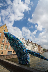 The Whale, Bruges (mightymightymatze) Tags: bruges brugge brügge belgien belgique belgie belgium summer sommer 2018 ferien holiday holidays urlaub vacation wal wale whale whales plastik plastic sculpture skulptur kunst art