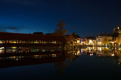 Scherzligschleuse and Thun Old Town (Bephep2010) Tags: 2018 35mmf14dghsmart 7markiii aare alpha altstadt bern bridge brücke bäume fluss herbst ilce7m3 reflektion scherzligschleuse schleuse schweiz sigma sony switzerland thun autumn fall oldtown reflection river trees watergate ⍺7iii kantonbern ch