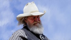 Portrait of the Old West (Bob C Images) Tags: portraits sky santafe newmexico eaves movieranch cowboy western sheriff actor