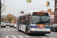 IMG_2767 (GojiMet86) Tags: mta nyc new york city bus buses 2009 orion vii ng hlf 4109 subway shuttle bushwick avenue devoe street