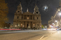 St Pauls (pboolkah) Tags: london england unitedkingdom gb soe church clouds stpauls moon lights night canon canon5d 1635mm redbus canon5dmkiv