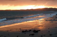Sunset And Sand (gcobb84) Tags: setting sun wet sand rocks sea beach