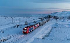 After Sunset (david_gubler) Tags: adtranz diesel locomotive train sunset snow aggeie ose trainose 220 023