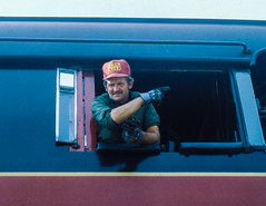 Firing (jameshouse473) Tags: nw class j 611 1984 charlottesville virginia va steam locomotive fireman norfolk southern western worker railroader railroad railway