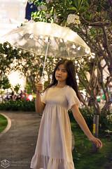 Fairy light 01 (Phi Trieu Photography) Tags: teen girl outdoor umbrella fairylight light beautiful pretty smile lovely longhair phitrieuphotography nikon nikond7100 d7100