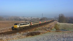 Misty and frosty at Brantham (Chris Baines) Tags: ga class 90 av electric london liverpool st norwich service