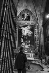 La visión de San Antonio de Padua (danperezfilms) Tags: seville cathedral lavisióndesanantoniodepadua bartoloméestebanmurillo bw travel spain fujifilm xt3 españa art architecture