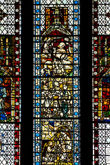 Stained Glass (Derwisz) Tags: englishgothic minster yorkminster architecture buildings cathedral church gothic medieval sacral sacred stainedglass window york northyorkshire unitedkingdom