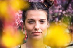 Victoria and Flowering Trees (Sebastian Pier Filip) Tags: panasonic fz1000 f4 1inchsensor 310mm spring bokeh victoria girl sofia portrait