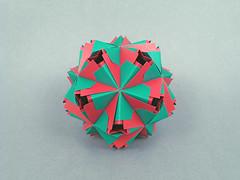 Bodiam var. (masha_losk) Tags: kusudama кусудама origamiwork origamiart foliage origami paper paperfolding modularorigami unitorigami модульноеоригами оригами бумага folded symmetry design handmade art