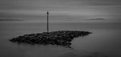 Mountains, Mist and Calm (Phil West) Tags: longexposure morecambe lee mono lakedistrict bigstopper mountains morecambebay blackwhite seascape