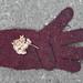 Knitted Burgundy Glove