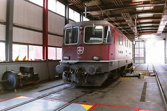 SBB 11192 (bobbyblack51) Tags: sbb class re44 slm bbc mfo saas bobo electric locomotive 11192 lausanne depot 1994