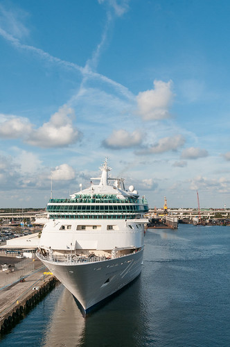 Rhapsody of the Seas docked in Tampa