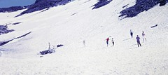Snow in Summer (zeesstof) Tags: geo:lat=4708086282 geo:lon=1284288321 geotagged zeesstofsmom kodachrome film 35mmslidefilm mamiya 1969 summerholiday mountains alps austrianalps triptothegrossglockner snow snowinsummer