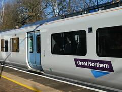 717003-GordonHill-P1531403 (citytransportinfo) Tags: 717003 siemens desirocity train railway greatnorthern station gordonhill sunshine bluesky winter class717