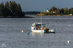 Boothbay Harbor-4833 (NWPaddler) Tags: 2018 boothbayharbor coast harbor me maine mainecoast morninglight nikon ocean september summer vacation boat lobsterboat lighthouse bay water sky