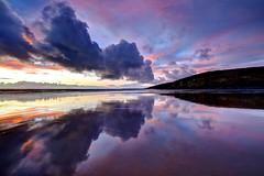 Vermillion (pauldunn52) Tags: sunset southerndown purple pink reflections cliffs glamorgan heritage coast wales