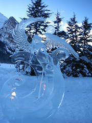 Lake Louise Alberta Canada (Mr. Happy Face - Peace :)) Tags: ice snow lakelouise art2019 banff albertabound canada fairmount hotel chateau outdoors mountains angel sculptures