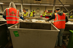 """120306 Bywater MRF 504 (hoffman) Tags: bywatermrf materialsrecyclingfacility waste recovery work conveyor recycled 6mar2012 davidhoffman davidhoffmanphotolibrary socialissues reportage stockphotos""""stock photostock photography"""" stockphotographs""""documentarywwwhoffmanphotoscom copyright"""