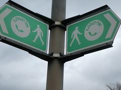 UK - London - Rainham - Sign for London Loop footpath (JulesFoto) Tags: uk england northeastlondonramblers london rainham londonloop