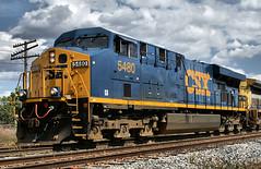 CSX5480-ES44DC_Plymouth-MI_07-15-2007aa (Count_Strad) Tags: railroad track tracks emd ge gp382 c408w es44dc gp9r c449w sd40t2 plymouth melvindale northville mi michigan csx